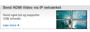 MediaCento send HDMI Video via IP netværket