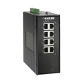 Hardened Managed 10-100 Ethernet Switch, DIN-Rail, DC