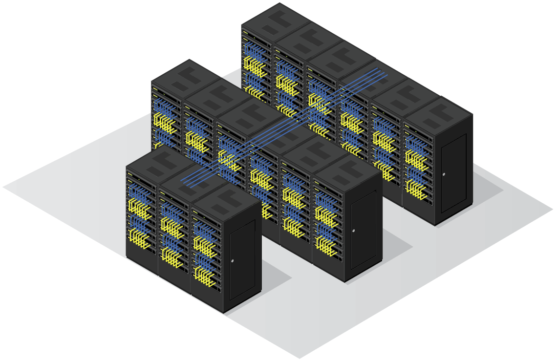 Data Center with Multiple Racks
